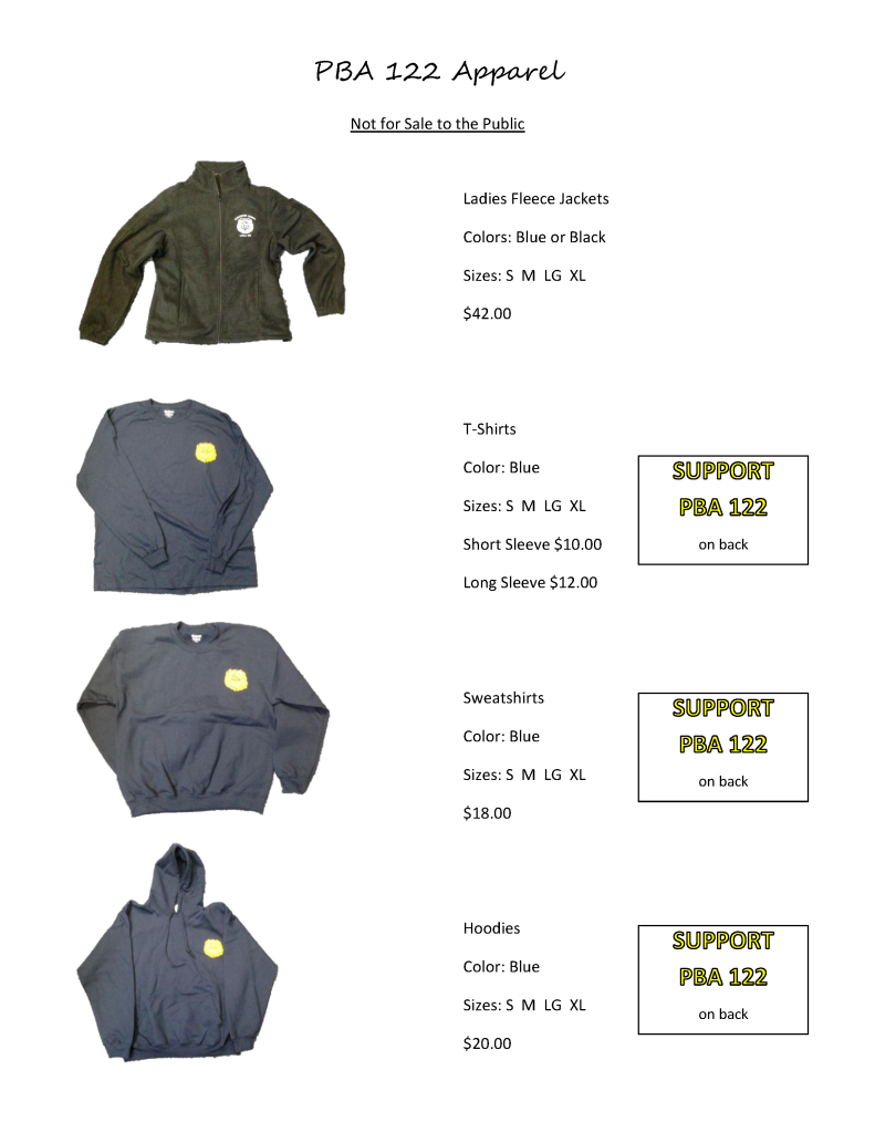 PBA 122 Apparel for MEMBERS